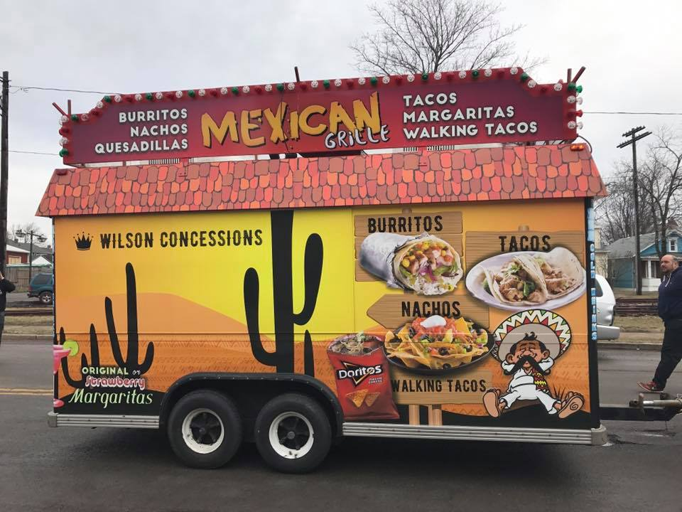 Top wraps from 2017 underground wraps for Flaming fish food truck